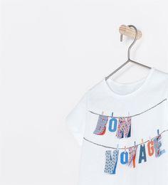 """Image 4 of """"BON VOYAGE"""" T-SHIRT from Zara"""