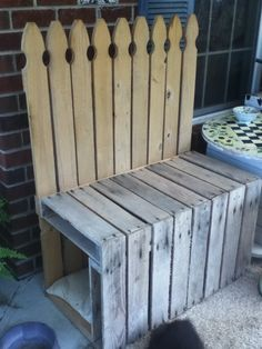 Another Pallet Bench I Built For Our Porch. Still Have Not Desided How I  Want