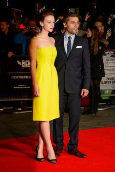 Carey Mulligan and Oscar Isaac at London premiere of Inside Llewyn Davis
