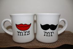 Mr & Mrs Coffee Mugs!  Great wedding gift :)