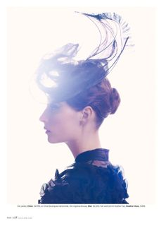 Love the lighting. Suzie Bird by Thomas Whiteside for Elle.