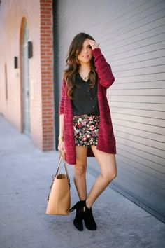 Floral and knits...