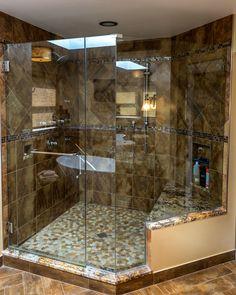 Photo By Dustin Furman - Contemporary - Bathroom - Photos by Robin Hiken Interiors Rustic Bathrooms, Dream Bathrooms, Beautiful Bathrooms, Modern Bathroom, Master Bathroom, Master Shower, Dream Home Design, My Dream Home, Home Interior Design
