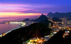 Rio de Janeiro skyline sunset