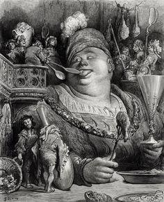 Pantagruel's Meal - Paul Gustave Dore