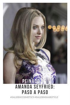 """Al más puro estilo Brigitte Bardot, así se presentó Amanda Seyfried para el estreno de la película """"In Time"""". ¿Quieres copiar su look? Sigue atenta a este paso a paso para conseguir el peinado de Amanda Seyfried.  #Peinado #Pasoapaso #Liso #Look #HairStyle"""