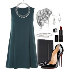 Sirius Black Inspired University Graduation Outfit w/ Heels by hpstyle on Polyvore featuring Dorothy Perkins, Christian Louboutin, BCBGMAXAZRIA, GUESS, Gucci, Miss Selfridge and Illamasqua