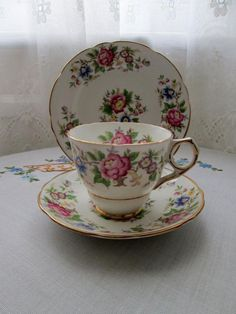 Royal Stafford - Rochester - Fine Bone China - Cup Saucer Plate - Trio