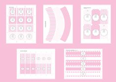 free pink printables, thank you stickers, cupcake wrappers, water bottle wrappers..