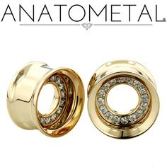 A new variation on our famous gemmed eyelets. Genuine gems on request. Anatometal