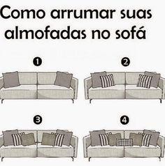Designer Wesley: Como arrumar suas almofadas no sofá