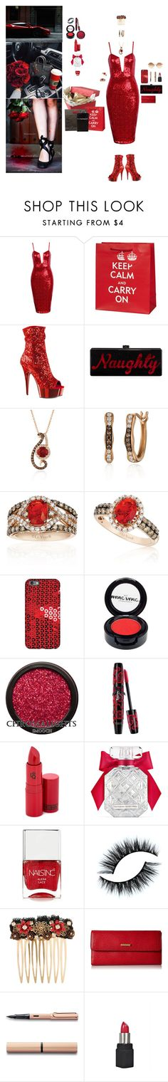 """""""Carry On"""" by blackmagicmomma ❤ liked on Polyvore featuring Ferrari, Pleaser, Edie Parker, LE VIAN, Manic Panic NYC, Lipstick Queen, Victoria's Secret, Nails Inc., Dolce&Gabbana and Lodis"""