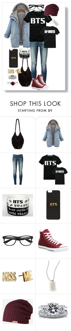 """""""BTS Rap Monster Fan Autumn Outfit"""" by minyxxngi ❤ liked on Polyvore featuring Indah, rag & bone/JEAN, Converse, Kate Spade, Metal Pressions, Barts, BERRICLE, bts, BangtanBoys and rapmonster"""