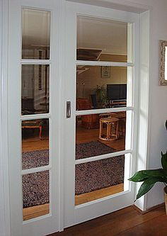 Schuifdeur weggewerkt in de spouw. Best Picture For country french doors For Your Taste You are looking for something, and it is going to tell you exactly what you are looking for, and you didn't find Door Design, House, Basement Decor, White Doors, House Styles, New Homes, Doors Interior, Internal Glass Doors, French Doors Interior