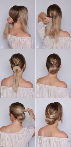 What's the Difference Between a Bun and a Chignon? - How to Do a Chignon Bun – Easy Chignon Hair Tutorial - The Trending Hairstyle Low Bun Tutorials, Buns Hairstyles Tutorials, Hair Up Tutorials, Makeup Tutorials, Medium Hair Styles, Curly Hair Styles, Hair Medium, Hair Styles Work, Hair Donut Styles