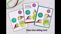 Winter Birds Holiday Cards for Cards for Little Hearts Card Drive BLOG HOP