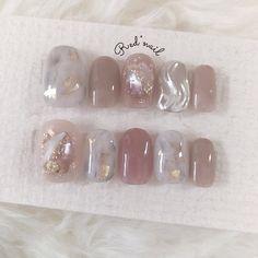 """Red""""nailのネイルデザイン[No.4178581] ネイルブック Minimalist Nails, Nail Swag, Pastel Nails, Pink Nails, Bridal Nails, Wedding Nails, Cute Nails, Pretty Nails, Japan Nail"""