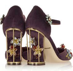 Dolce & Gabbana gold cage heels