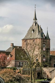 Tower and ancient entrance gate to the city of Vianen.
