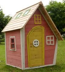 Crooked Cottage Playhouse - sweet wooden playhouse