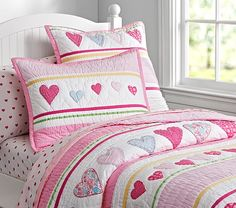 Shop girls comforter sets in cute prints and colors at Pottery Barn Kids. Find girls quilts in style that will match your daughter's personality. Big Girl Bedrooms, Little Girl Rooms, Girls Bedroom, Girls Bedspreads, Girls Comforter Sets, Little Princess, Girls Quilts, Quilt Bedding, Pottery Barn Kids