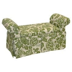 Found it at Wayfair - Canary Skirted Storage Bench in Moss