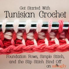 Learn how to master the Tunisian crochet stitch, or afghan stitch, with these crochet afghan patterns. Plus, don't miss our Tunisian crochet video. Crochet Afghans, Tunisian Crochet Patterns, Crochet Motifs, Afghan Patterns, Lace Patterns, Tunisian Crochet Blanket, Crochet Cushions, Crochet Pillow, Square Patterns