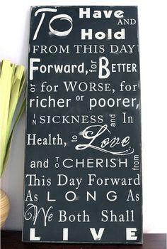 vows :)
