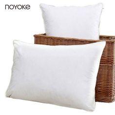 NOYOKE 1 Piece 48*74 cm Five Star Hotel Bedding Pillow Feather Silk Microfiber Soft Pillow Bed Bedding Pillow