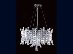 Luxury Crystal Eclipse 8 Light Pendant Ceiling Light Featuring in well known TV programmes such as Downton Abbey