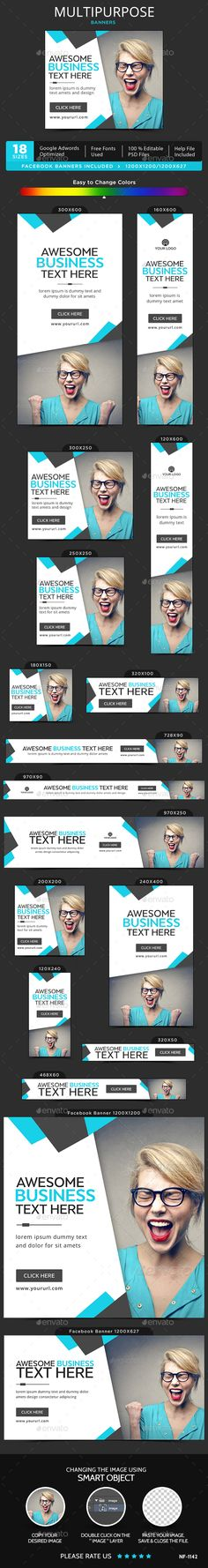 Multipurpose Web Banners Template PSD. Download here: http://graphicriver.net/item/multipurpose-banners/15233782?ref=ksioks