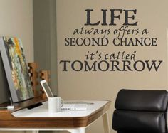 Inspirational Vinyl Wall Lettering Words Life by WallsThatTalk, $13.00