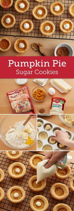 Pumpkin Pie Sugar Cookeis