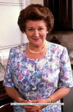 """Keeping Up Apperances On DVD - Hyacinth Bucket (pronounced """"bouqet"""") continuously tries to find chances to go up up