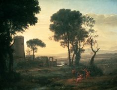 Landscape with castle - Claude Lorrain (1600-1682), Champagne, France