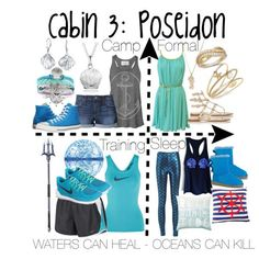 Cabin 3: Poseidon by aquatic-angel on Polyvore featuring The Rise and Fall, NIKE, Joes Jeans, Converse, Prada, Charter Club, LE VIAN, Journee Collection, Bling Jewelry and Sugar NY