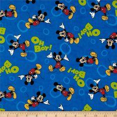 Mickey Oh Boy Flannel Blue