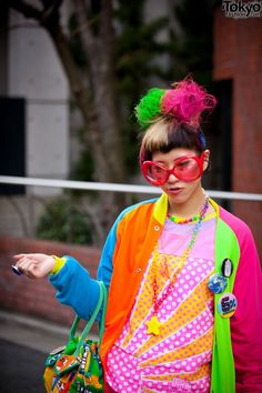 harajuku... people really dress like this! i can respect another culture but this is insane. they look like a lisa frank coloring book!
