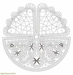Pattern of the Month 2012 · november - Lace with needle (s) the spool! Lace Art, Bobbin Lace Patterns, Form Crochet, Point Lace, Lace Jewelry, Needle Lace, Lace Making, String Art, Lace Detail