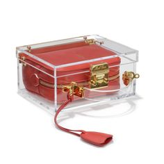 Grace Small Box Plexi Red — Mark Cross - America's First Luxury Leather Goods Brand