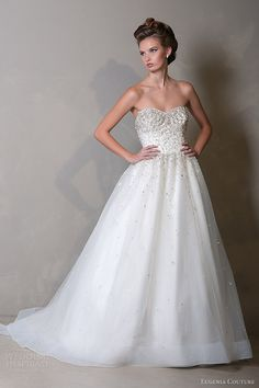 eugenia couture 2014 bridal viviana strapless wedding dress