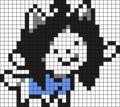 Temmie Perler Bead Pattern / Bead Sprite