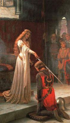 Guinevere consagrando Lancelot