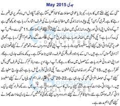 Capricorn Monthly Horoscope in Urdu May 2015