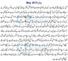 Capricorn Monthly Horoscope in Urdu May 2015