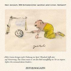 Herr #Janosch, #WM-Schiedsrichter sprühen jetzt Linien. Seltsam?