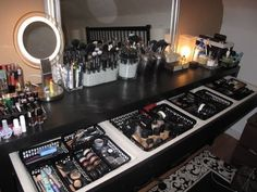 I WISH!  Makeup station (Malm dressing table from Ikea?)