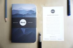 Beautifully designed notebooks by Word with a really neat little system for keeping your to-do list in order. Word Notebooks, Desk Essentials, Pocket Notebook, Stationery Design, Getting Organized, Wedding Invitations, Posts, Organization, Messages