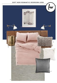 High & Low: A Modern Romantic Bedroom Look
