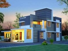 3200 Square Feet 4 Bedroom Traditional Nalukettu Model Home Design and Plan - Home Pictures :: Easy Tips Two Story House Design, Small House Design, Modern House Design, Modern Architectural Styles, Double Storey House, Model House Plan, Modern Style Homes, House Deck, Model Homes